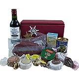 Kleiner Geschenkkorb mit Rotwein