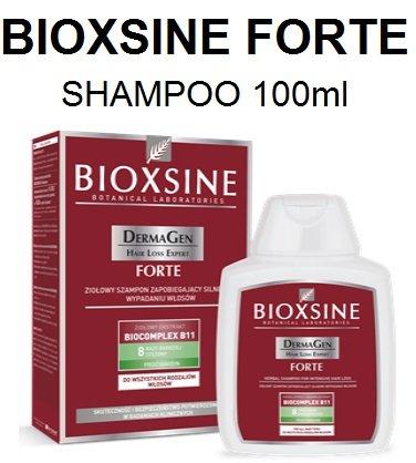 BIOXSINE Forte Herbal Shampoo 100ml–Natürliche Intensive Formel für intensiven Haarausfall schwachen Thining Haar Relief...