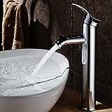 saejj-chaude und kalten Wasserhahn Badezimmer Waschbecken auf Kupfer oberhalb des lavabo-vasque Waschtischarmatur Wasserhahn hohe