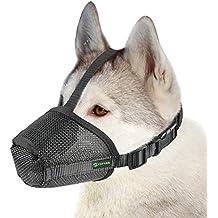 RockPet Bozal para Perro de Malla de Nylon con Correa Encima de la Cabeza para Perros