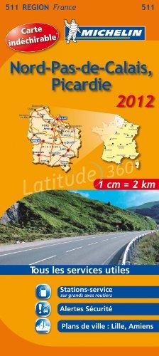 NORD PAS DE CALAIS , PICARDIE 17511 CARTE MICHELIN KAART 2012 (KAARTEN/CARTES MICHELIN)