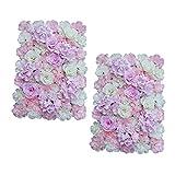 Baoblaze 2 Stück Künstliche Blumen Säule, Diy Blumenwand Hochzeit Kunstblumen Deko