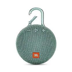 JBL Clip 3 Bluetooth Lautsprecher - Wasserdichte, tragbare Musikbox mit praktischem Karabiner - Bis zu 10 Stunden kabelloses Musik Streaming Türkis