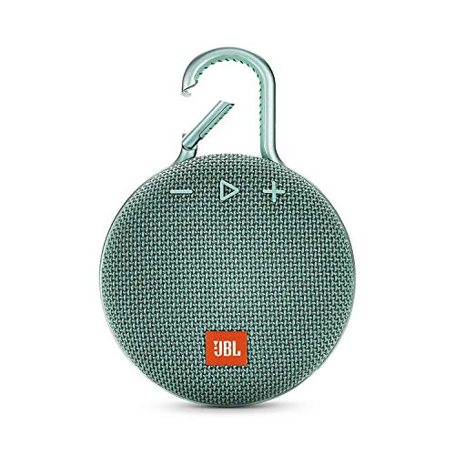 JBL Clip 3 Ultra-Portable Wireless Bluetooth Speaker with Mic (Teal)
