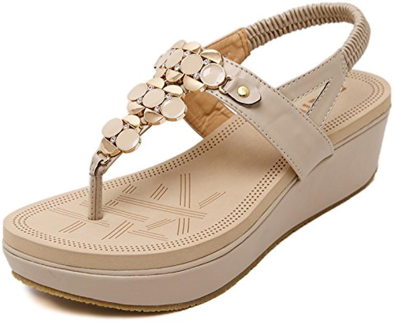 YMFIE Zeppa estiva da donna con sandali infradito infradito infradito casual comode scarpe da spiaggia antiscivolo, 39 EU, B | Folle Prezzo  | Uomo/Donne Scarpa  5d86c3