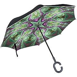 Paraguas de Mandala Fractal Grande