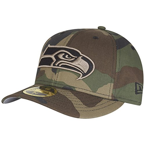 New Era 59Fifty LOW PROFILE Cap - Seattle Seahawks wood camo (Baseball-hüte Low-profile)
