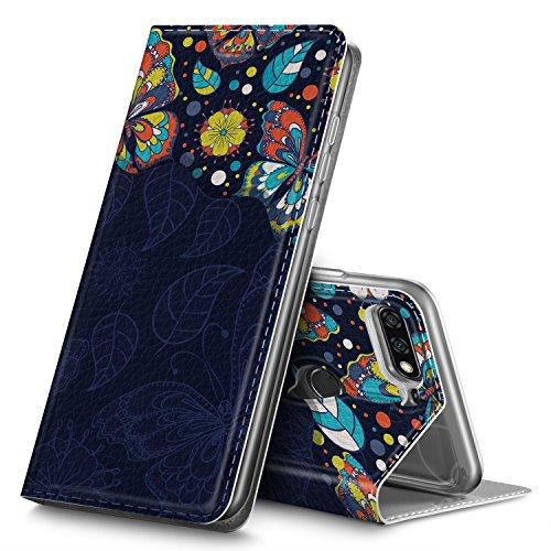 GeeMai Huawei Y7 2018 Hülle, Huawei Y7 Prime 2018 Hülle, Premium Flip Case Tasche Cover Hüllen mit Magnetverschluss Standfunktion Schutzhülle Handyhülle für Huawei Y7 2018 Phone