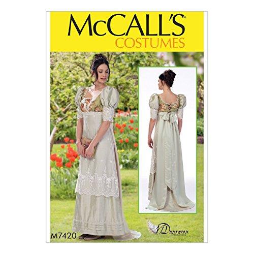 Mccall Kostüm Pattern - McCall 's Patterns 7420E5Schnittmuster Kostüm Schnittmuster, Tissue, Mehrfarbig, Größen 14-22