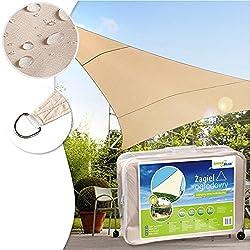 Greenblue Gb501 Sonnensegel Sonnenschirm Sonnenschutz Windschutz Sonne Dreieck Creme 4m X 4m X 4m