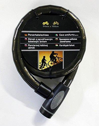 24 mm Stärke Fahrrad Motorrad Schloss Fahrradschloss Motorradschloss 100 cm Lang