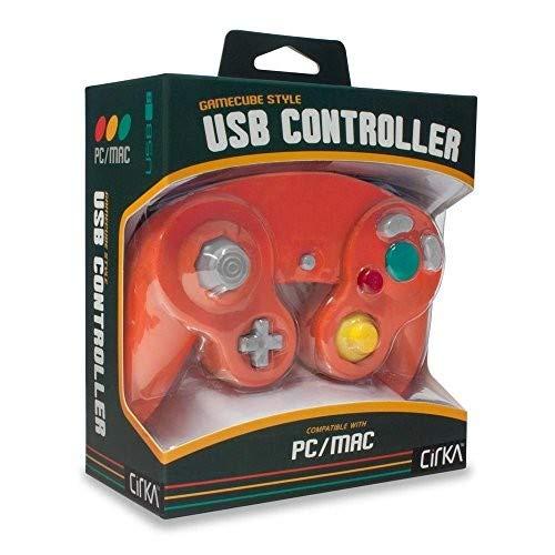 Cirka Premium Gamcube-Style USB-Controller für PC / Mac (Crimson-Red)