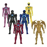 Power Rangers Team Movie Action Figures - 5 rangers plus exclusive metallic Goldar figure