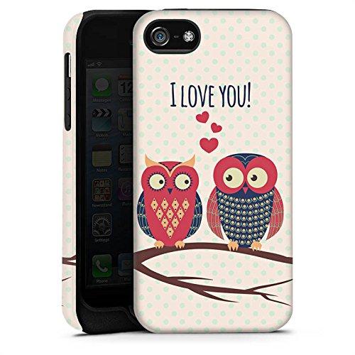 Apple iPhone X Silikon Hülle Case Schutzhülle Herz Eule Love Tough Case matt