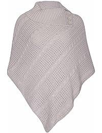 Purple Hanger FEMMES NEUF Poncho bouton femme long tricoté plié col roulé  bouton cape châle enveloppant 0b77b92d63d