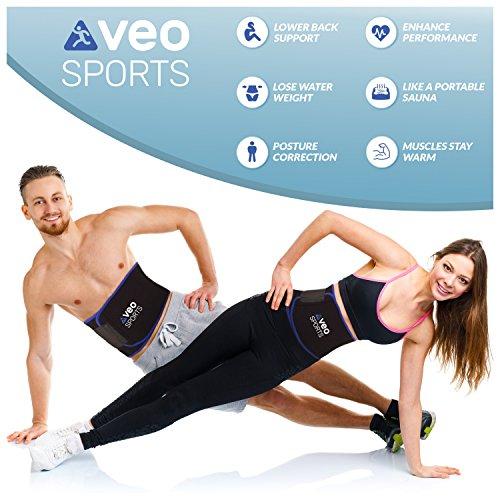 VeoSports Bauchweggürtel Fitness für Männer und Frauen - 3