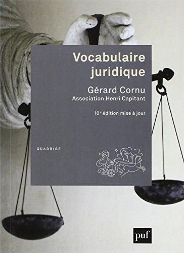 Vocabulaire juridique (10ed) (Quadrige) por Gérard Cornu