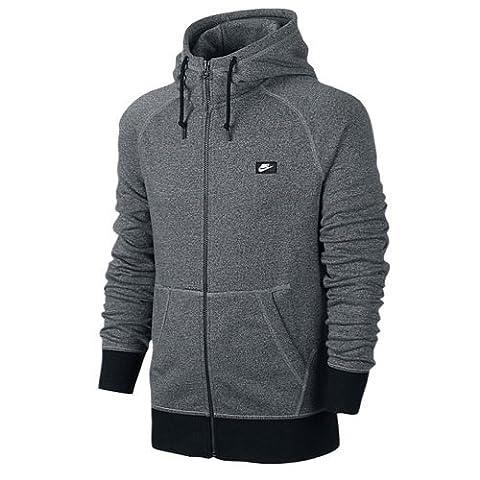 Nike Men's Hoodie French Terry Shoebox Full Zip, Men, Hoodie, Hoodie French Terry Shoebox Full-Zip, Cool Grey/Black/Htr,