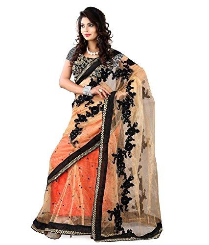 Yuvati Sarees Net Saree (9028_Black)