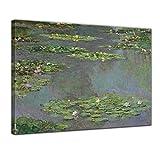 Bilderdepot24 Leinwandbild - Claude Monet - Seerosenteich - 80x60cm Einteilig - Alte Meister - Bilder als Leinwanddruck - Kunstdruck - Leinwandbilder - Bild auf Leinwand - Wandbild