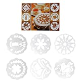 Set 6 stencil mascherine decorazione torta torte dolce dolci Cake Design  festa   e1d191637ab9