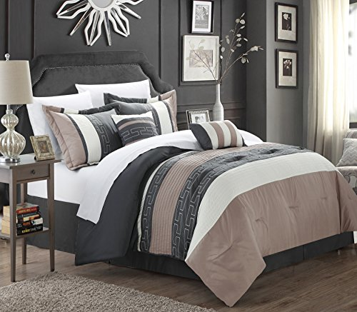 Chic Home Carlton 6 Tröster Set,, King Size, taupe