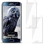 2x Samsung Galaxy S6 Edge | Schutzfolie Klar Display Schutz [Crystal-Clear] Screen protector Bildschirm Handy-Folie Dünn Displayschutz-Folie für Samsung Galaxy S6 Edge Displayfolie - Bildschirm gewölbt, Folie bewusst kleiner