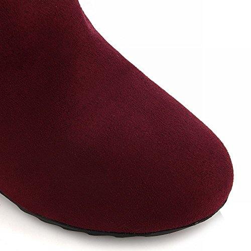 Mee Shoes Damen warm gefüttert langschaft Lace high heels Stiefel Rot