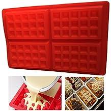 Royal Houseware Molde de silicona para gofres, molde de chocolate, bandeja para cubitos de
