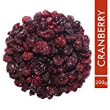 Sorich Organics Naturally Dried Cranberries Unsulphured, Unsweetened and Naturally Dehydrated Fruits - 200
