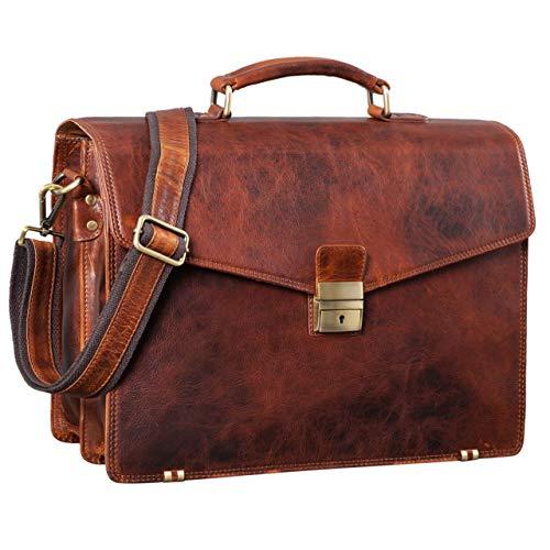 5d805acf6e482 STILORD   Cosmos   Vintage Aktentasche Leder Groß für Herren Businesstasche  mit Laptop-