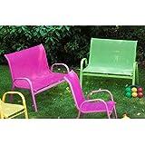 Banc de jardin fauteuil mobilier de jardin exterieur pour for Mobilier de jardin pour enfant