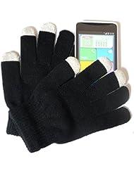 PRESKIN - Guantes para señoras, niños, adolescentes (un tamaño, pequeño ) con función Smartphone, Guantes NEÓN de teléfono celular, móvil de la tableta del teléfono para Samsung Apple iPhone HTC Huawei Nokia