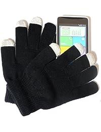 PRESKIN - Handschuh (One size, kleine Größe) mit Smartphone Funktion für Damen, Kids, Teenager, NEON Handy Gloves für Tablet Phone Handy für Samsung Apple iPhone HTC Huawei Nokia