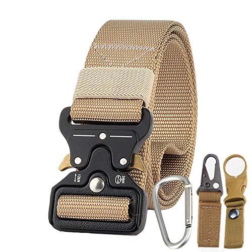 True-Ying 3,8 cm Gürtel Männer Army Fan Tactical Belt Multifunktions Nylon Outdoor Training Gürtel Waistban, Khaki -