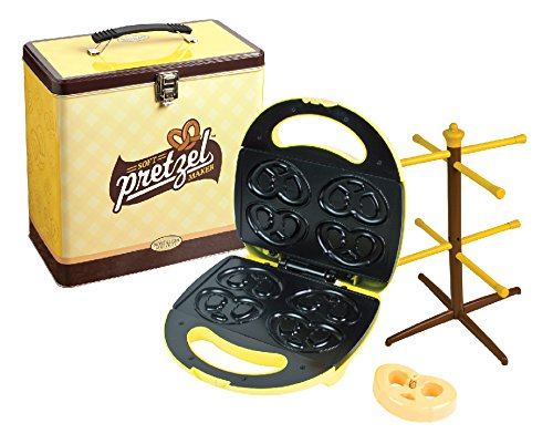 smart-nostalgia-soft-pretzel-maker-kit-electric-non-stick-yellow