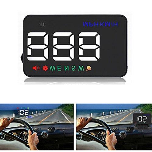 PolarLander Head Up Display HUD Auto Geschwindigkeit Projektor auf der Windschutzscheibe Hud Display Auto Auto-Styling Universal Digital Auto Geschwindigkeitsmesser