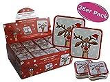 36er Box Magisches Handtuch Rentier - tolle Wichtelgeschenke, Weihnachts Give Away