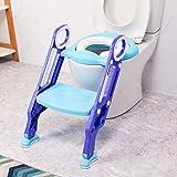 VETOMILE Kinder Toilette Töpfchen Trainer mit Treppe und Toilettensitz für 1-7 Kinder (lila und blau)