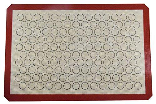 ikoco-tappetino-da-forno-in-silicone-per-macarons-completo-lenzuolo-size-60-x-40cm-caffe-riutilizzab