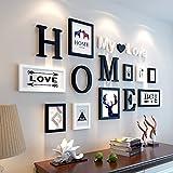 DENGJU Europeanstyle Fester Holz Fotorahmen Collage Kombination Wohnzimmer Schlafzimmer Bilderrahmen Wand Kreative Kombinationen Moderne Einfache Esszimmer Foto Wände (Farbe : C)