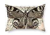 beautifulseason The Butterfly - Fundas de Cojín DE 40 x 60 cm, para Decoración, Regalo para Tumbona, Silla, Diván, Banco, Asiento de Coche, Gril Friend (Dos Lados)