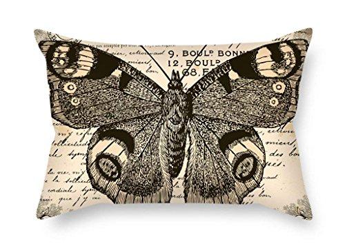 beautifulseason Le Papillon Couvre-lit Housses de Coussin du, 40,6 x 61 cm/40, 60 cm de décoration, Cadeau pour Salon, Une Chaise, lit, Banc, siège Auto, Gril ami (Twin Sides)