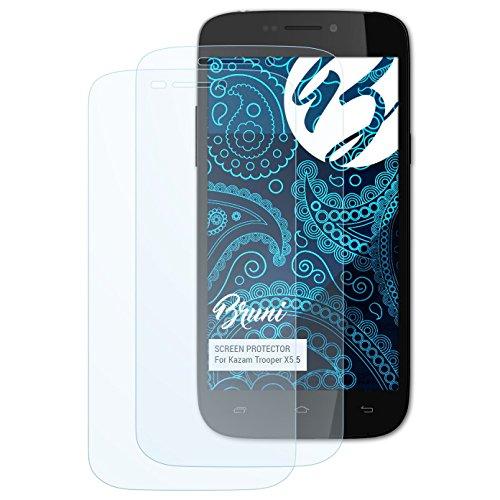 Bruni Schutzfolie für Kazam Trooper X5.5 Folie, glasklare Bildschirmschutzfolie (2X)