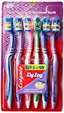 #9: Colgate ZigZag Toothbrush (Medium, Pack of 6)