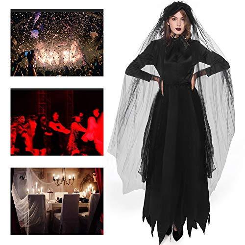 JH&MM Halloween Kostüm Damen Hexengeist Braut Set Cosplay Maskerade - Einzigartige Damen Halloween Kostüm