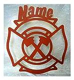 Schlummerlicht24 Led Feuerwehr-Schild Feuerwehrstation Erwachsene Geschenke mit Name Deko Feuerwehr-Zimmer Geburtstagsgeschenk Junge Mann Männer Geschenk-Idee mit Feuerwehr-Axt
