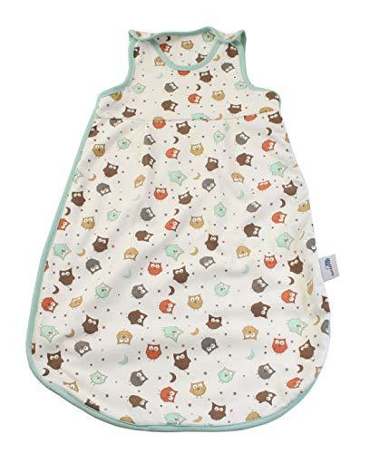 Schlummersack Winter Babyschlafsack in 3.5 Tog warm wattiert - Eule - 0-6 Monate/70 cm