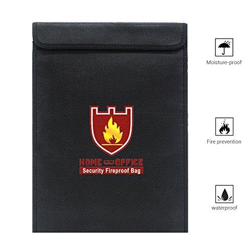 EisEyen Feuerfestes Dokument Tasche Feuerfeste Wasserresistente Tasche für Bargeld, Pässe, Karten, Wertsachen, Schmuck und Batterien Schutz