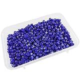 #9: eshoppee 100 gm, 5mm cube shape handmade handicraft glass beads for jewellery making art and craft diy kit (blue)